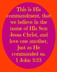 Verse of the Week: 1 John 3:23